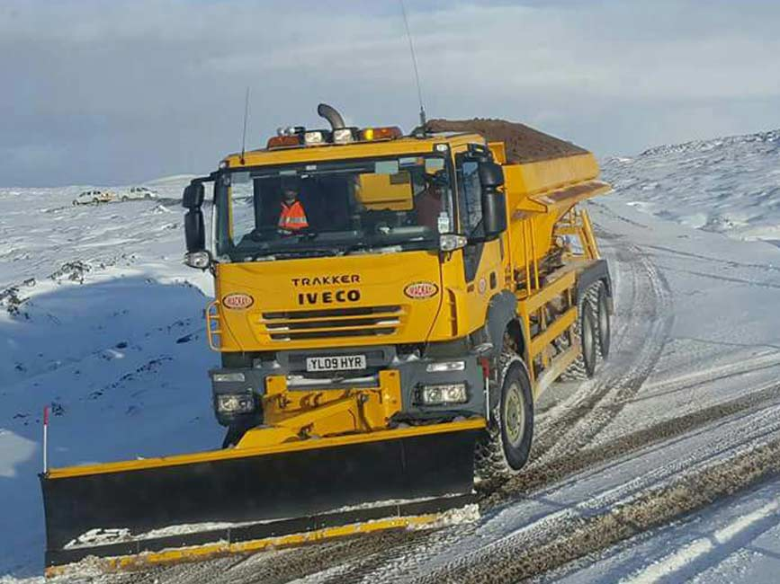 Winter maintenance on Bhlaraidh and Glendoe Windfarm projects for SSE on behalf of RJ Mcleods